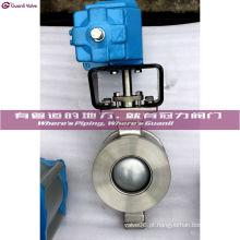 Válvula de esfera pneumática do segmento V da flange