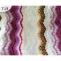 2016 Flowers and Stripe Velvet Fabric in 300GSM (FEP011)
