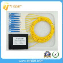 ABS tipo de caja 1x8 plc splitter SC / UPC