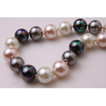 Coloured Rainbow Pearl Necklace Luzem