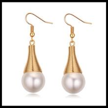 2016 mode de gros mode nouvelle boucle d'oreille modèle perle boucle d'oreille