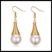 2016 wholesale fashion designs new model earrings pearl earring