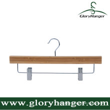 Wholesale Natural Bamboo Pant Hanger with Two Clip