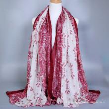 Le coton de haute qualité a l'air paisible modèle long hijab