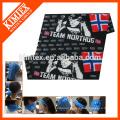 Multi-purpose elastic printed bandana on face