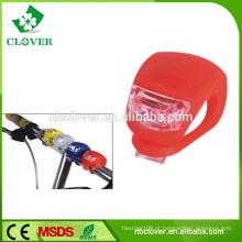 De Boa Qualidade Mini Silicone moda 2 luz da cabeça da bicicleta do diodo emissor de luz