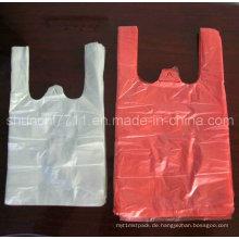 Plastik-Einkaufen-Weste-Druck-T-Shirt Beutel