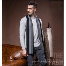 L'écharpe tissée acrylique en nylon de polyester de laine rayée de mode des hommes (YKY4612)