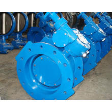 Rubber Seat Double-Eksentrik Flanged Butterfly Valve