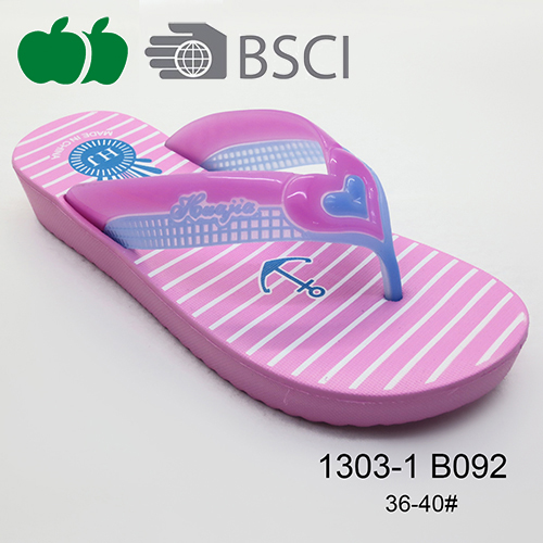 New Hot Sale Custom Printed Eva Lady Beach Summer Flip Flop
