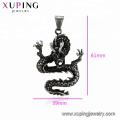 33541 xuping fashion black gun color cool Diseño personalizado Lucky animal dragon colgante
