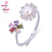 high quality fashion open ring adjustable ring pearl jewelry ring