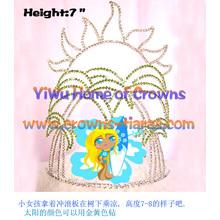7 pulgadas de altura del patín chica verano coronas