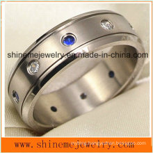 Shineme Jewelry High Quality Zircon Titanium Ring (TR1850)