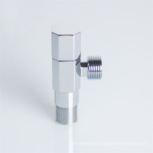 chrome plated 1/2 inch brass angle stop valve