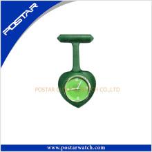 Reloj de enfermera de promoción reloj de forma de corazón de silicona relojes de cuarzo para Nerse y el médico