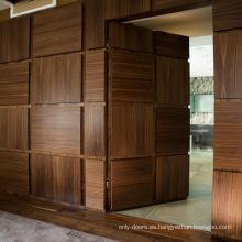 La puerta francesa de lujo del dormitorio diseña la puerta invisible interior del interior de los cuadros