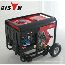 BISON CHINA TaiZhou 380v 220v 3 Fase 6kva Tipo aberto King Max Diesel Generator