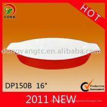 Nuevo diseño personalizado plato para hornear gres