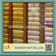 Tissu en coton à longue dentelle en PVC