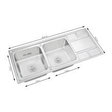 Countertop Коммерчески Ванная Комната Topmount Сушилку Для Посуды Из Нержавеющей Стали Кухонная Раковина С Крылом