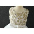 Vente en gros boutique de vêtements enfants fleur net filles enfant blanc ange robe