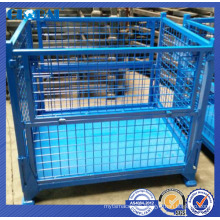 Warehouse storage solution of stackable container/heavy duty wire container