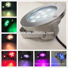 IP68 DMX control RGB llevó la luz subacuática, luz subacuática 12v / 24v