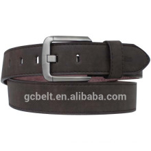 Man's dark brown fashion PU leather belt