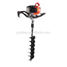 52cc 1700w de mano de perforación del suelo de la máquina de perforación de la tierra de alambre Portable manual de la cerca de perforación excavador