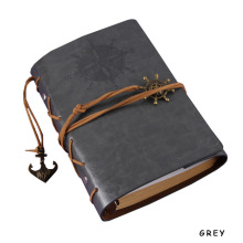 Spiral Binding Notebook with Leather Hardcover