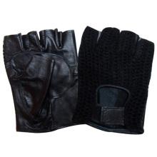 Herrenmode Fingerlose Schaffell Leder Fahren Handschuhe (YKY5024)