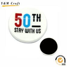 3D gravado logotipo PVC tipo alfabeto Frig ímã personalizado Ym1073