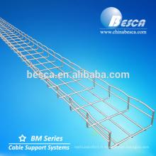 Fournisseur professionnel de chemin de câbles de grillage en acier avec le système ISO9001