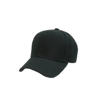 Gorra de béisbol negra ajustable en blanco