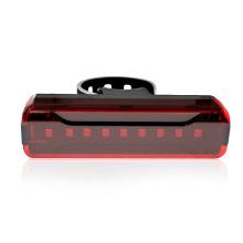 Feu arrière de vélo d'équitation rechargeable USB visible