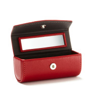 Women Red Lipstick Makeup Bag With Mirror