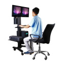 "Mobile Computer Workstation Single Monitor 10-24"" Height Adjustment (PCM 1202)"