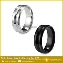 Вечность канал обручальное кольцо / из нержавеющей стали 8 мм Мужской кольцо