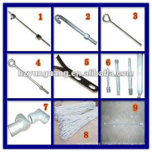 electric power Line hardware construction fitting steel rope stay rod bar steel monopole fit accessories