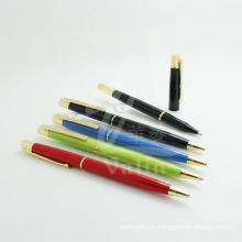 Pluma modificada para requisitos particulares del metal del logotipo, pluma promocional del metal, bolígrafo