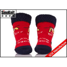 Soft Tube Red Infant Socks Warm Newborn Baby Socks with Org