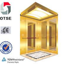 800kg 10 persons Titanium Stainless Steel Etching High Quality High Speed Low Noise Passenger Elevator Lift China Lift