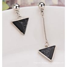 Boucle d'oreille Urquoise boucles d'oreilles asymétriques triangulaires Tassel