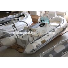 CE certificat rib390 en fibre de verre rigide coque bateau gonflable