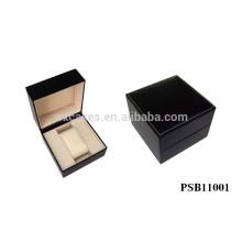 caixa de relógio de couro preto para único relógio