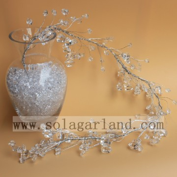 Acrylic Transparent Stone Shape Beads Garland Tree Branches