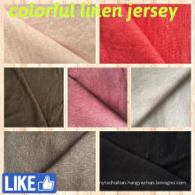 Linen Jersey Fabric for T-Shirts (QF14-1546-solid)