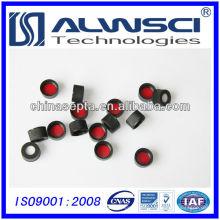 13mm rote ptfe weiße silikon septa mit schwarzer schraube offene obere kappe vormontiert