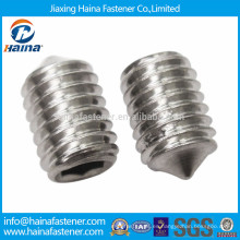Punta de cono de acero inoxidable hexagonal scoket set screw